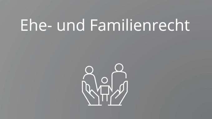 Eherecht und Familienrecht als Spezialgebiet